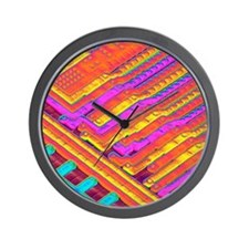 Microchip surface, SEM Wall Clock