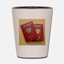 Microchipped passports, Russia Shot Glass