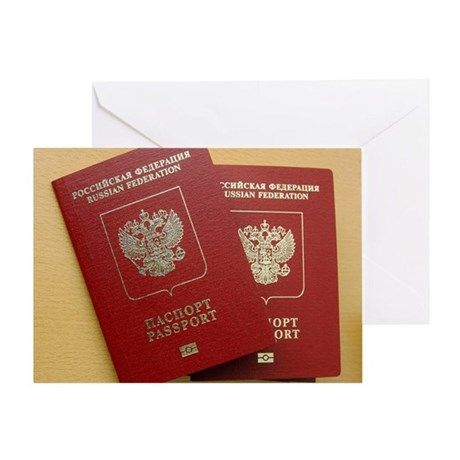 Microchipped passports, Russia Greeting Card