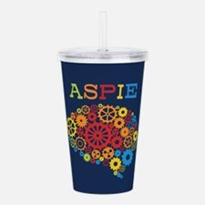 Aspie Brain Autism Acrylic Double-wall Tumbler