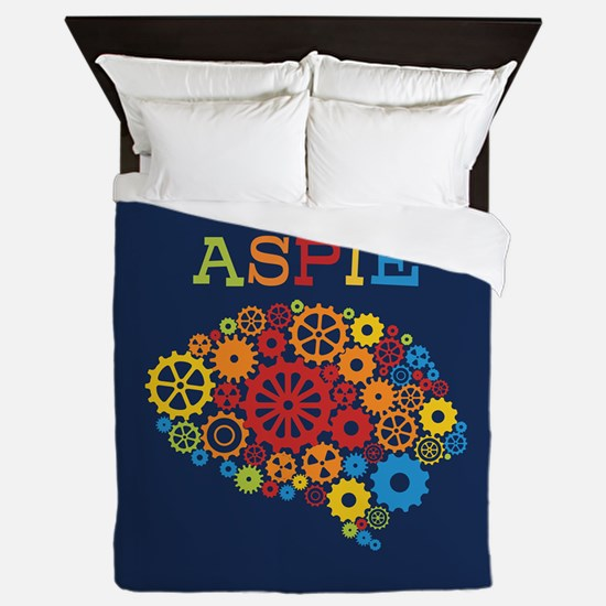 Aspie Brain Autism Queen Duvet