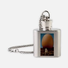 Avian flu, conceptual art Flask Necklace