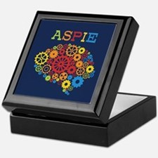 Aspie Brain Autism Keepsake Box