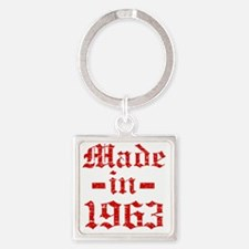 Made In 1963 Square Keychain
