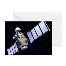 Military satellite Greeting Card