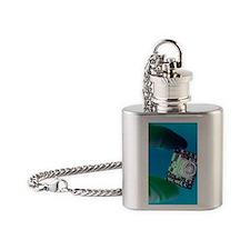 Miniature spy camera Flask Necklace
