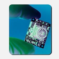 Miniature spy camera Mousepad
