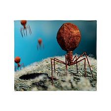 Bacteriophage viruses Throw Blanket