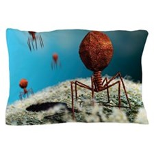Bacteriophage viruses Pillow Case