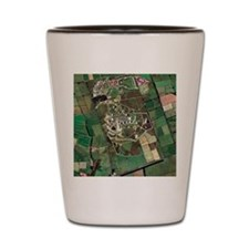 Menwith Hill spy base, aerial image Shot Glass