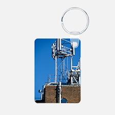 Mobile phone base station Keychains