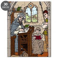 Monk transcribing a book Puzzle