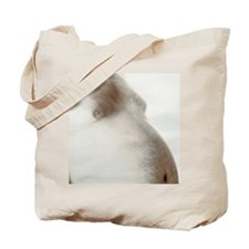 Bare abdomen of an obese man Tote Bag