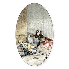 Ball lightning kills Richmann, 1753 Decal