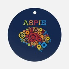 Aspie Brain Autism Round Ornament
