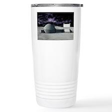 Moon base, artwork Travel Mug
