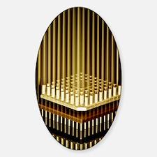 Microprocessor chip Sticker (Oval)