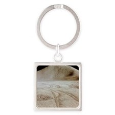 Moon landscape Square Keychain
