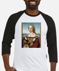 Lady with unicorn - Raphael Baseball Tee