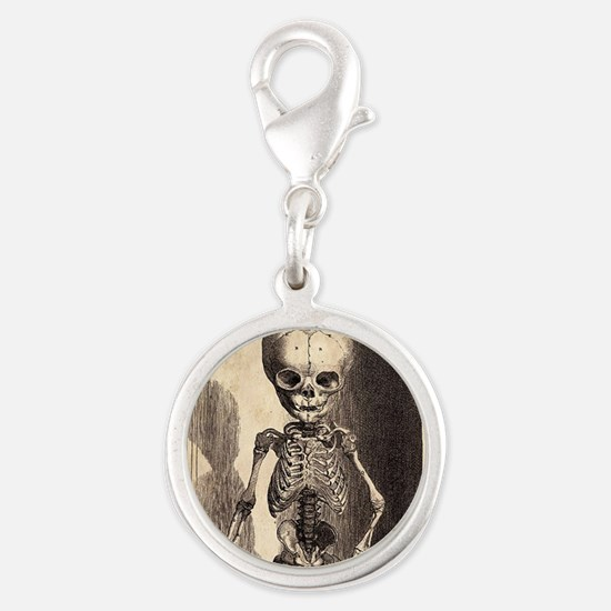 Skeletal Child Alcove Silver Round Charm