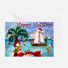 Happy Holiday Christmas on the Sea Greeting Card
