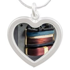 Microwave oven transformer Silver Heart Necklace