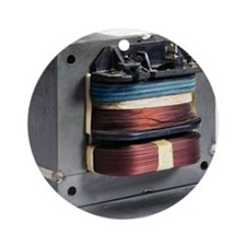 Microwave oven transformer Round Ornament