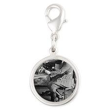 Bessie Coleman, US aviation pi Silver Round Charm