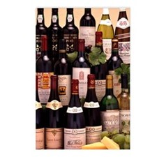 Bottles of wine Postcards (Package of 8)
