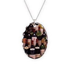 Bottles of wine Necklace Oval Charm