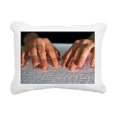Braille Rectangular Canvas Pillow
