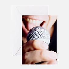 Microphone use Greeting Card
