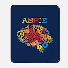 Aspie Brain Autism Mousepad
