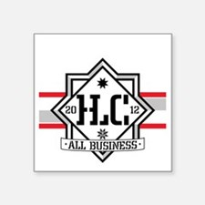 "HLC_SKATER Square Sticker 3"" x 3"""