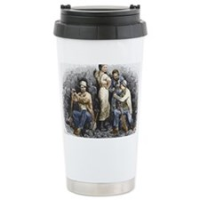 Miners and their wives, 19th ce Travel Mug