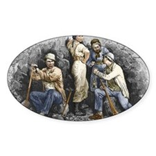 Miners and their wives, 19th centur Decal