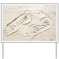 Sandy Footprints Yard Sign