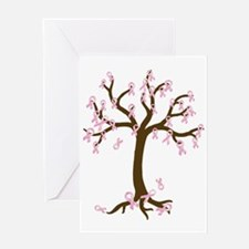 Breast Cancer Tree Greeting Card