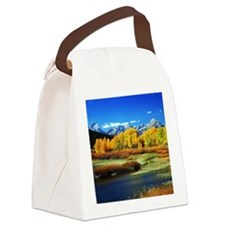 Fall Mountains Canvas Lunch Bag