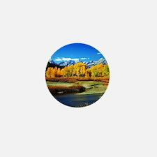 Fall Mountains Mini Button