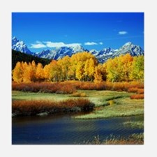 Fall Mountains Tile Coaster