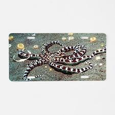 Mimic octopus Aluminum License Plate