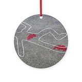 Murder Round Ornaments