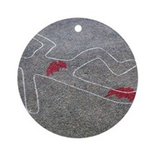 Body oultine Round Ornament