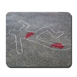Murder scene Mouse Pads