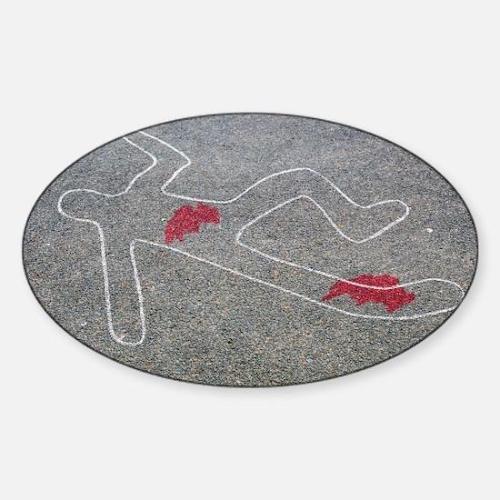 Body oultine Sticker (Oval)