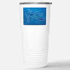 Body outline Travel Mug
