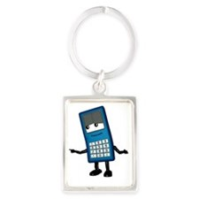 Mobile phone cartoon character Portrait Keychain