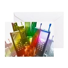 Mobile phones Greeting Card