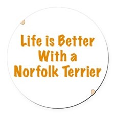 Life is better with a Norfolk Ter Round Car Magnet
